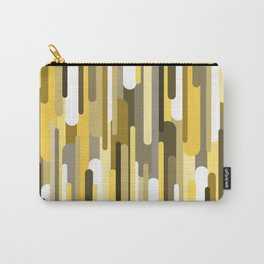 Flowing drops of paint in gold yellow, abstract liquid flow, golden background Carry-All Pouch