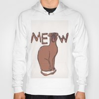 meow Hoodies featuring MEOW  by Cats. Comics. Curves.