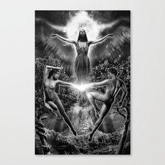 VI. The Lovers Tarot Illustration Canvas Print