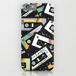 Mixtapes for My Love 80s Old School Cassette Tape Pop Art iPhone Case