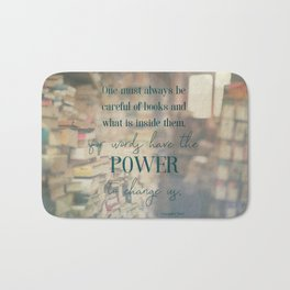 The power of books - Book Quote Collection Bath Mat