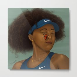 Naomi and the Butterfly Metal Print