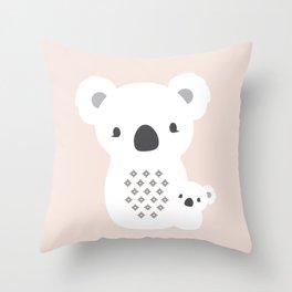 Mom&Baby Koala Throw Pillow