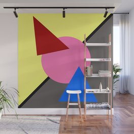 Two Triangles zip zip Wall Mural
