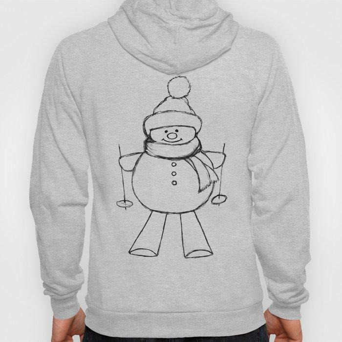 Skier Snowman AZ02 Hoody