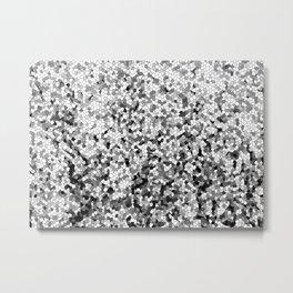 Design 100 black white mosaic Metal Print