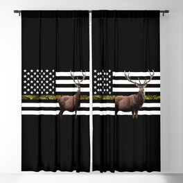 Elk Flag (Camo) Blackout Curtain