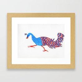 Evil eyed peacock Framed Art Print