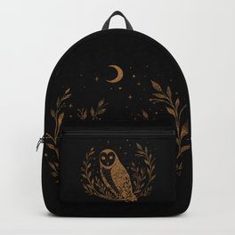 Owl Moon - Gold Backpack