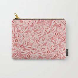 French Paisley - Pink Carry-All Pouch