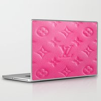 lv Laptop & iPad Skins featuring Pink LV by I Love Decor