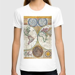 Old World Map print from 1794 T-shirt