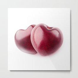 Two cherry hearts Metal Print