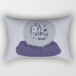 Look Deep Into The Parka Rectangular Pillow