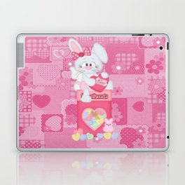 Valentines Bunny and Conversation Hearts Candy Laptop & iPad Skin