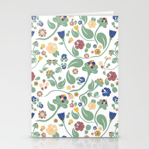 Scandinavian paisley Stationery Cards