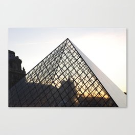 Abstract Louvre Pyramid Canvas Print
