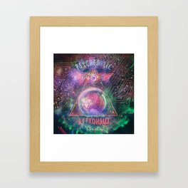 Psychedelic Astronaut  Framed Art Print