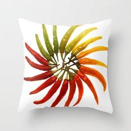 Chili Color Wheel Vector Throw Pillow