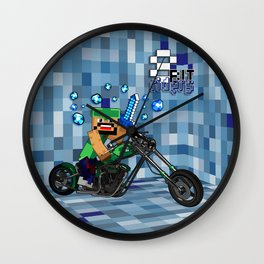 8bit Rider iPhone 4 4s 5 5c 6, pillow case, mugs and tshirt Wall Clock
