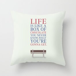 Lab No. 4 - Forrest Gump Movies Inspirational Quotes Poster Throw Pillow