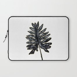 Philodendron Monstera Leaf black and gold Laptop Sleeve