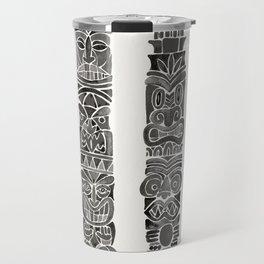 Tiki Totems – Black Travel Mug