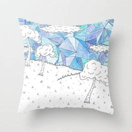 Skys of Blue Throw Pillow