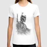 boba fett T-shirts featuring Boba Fett by Richard Stuart MacFarlane