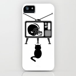 Cat Watching American Football iPhone Case