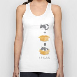 If It Fits, I Sits! Unisex Tank Top