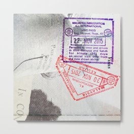 Malaysian Immigration Metal Print