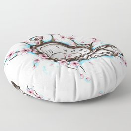 Time sakura Floor Pillow