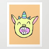 randy c Art Prints featuring Randy by BubbleTeeth