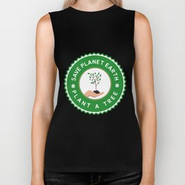 Save Planet Earth - Plant a Tree Biker Tank