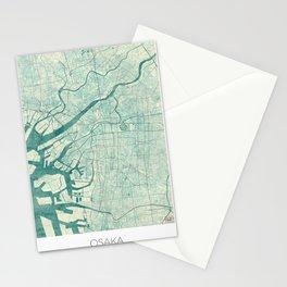 Osaka Map Blue Vintage Stationery Cards