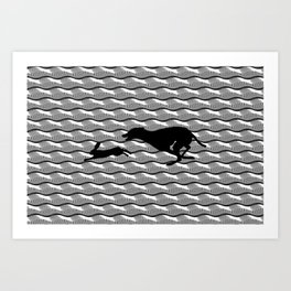 Death Inspires Me Like a Dog Inspires a Rabbit Art Print