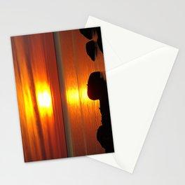 Hazy Seaside Sunset Stationery Cards