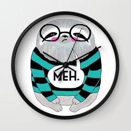 whistleburg - Meh Sloth Wall Clock