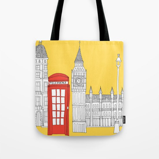 Capital Icons 4 // London Red Telephone Box Tote Bag