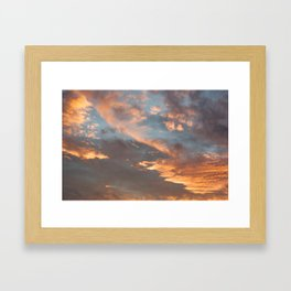 Sky 11/12/2010 17:15 Framed Art Print