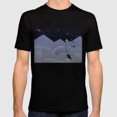 Arctic Snowfall X-LARGE Black Mens Fitted Tee