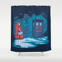 hallion Shower Curtains featuring Big Bad Wolf by Fanboy30