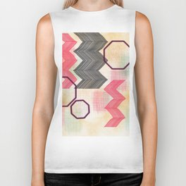 Cheery Chevron Biker Tank