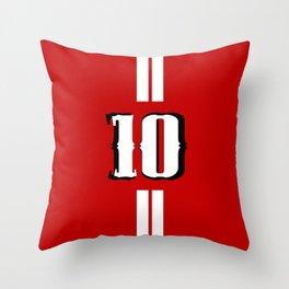 Ten jersey number Throw Pillow
