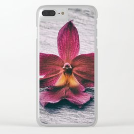 Wilting Orchid Clear iPhone Case