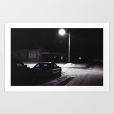 Night On My Street. Art Print