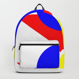 Bauhaus geometric shapes modern art Backpack