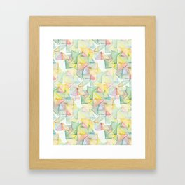 Watercolor Triangle Pattern - Katrina Niswander Framed Art Print