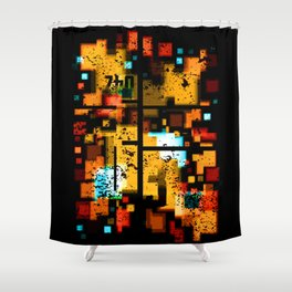 Abstract Composition #3 Shower Curtain